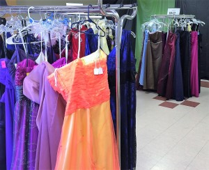Dresses on Display at the MGT Prom Boutique