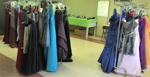 Dresses Displayed at our MGT Prom Boutique