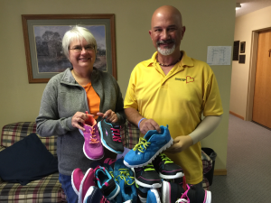 Kathy Becker, Executive Director of Missouri Girls Town Foundation with Donnie Bonuchi of Shoes from the Heart
