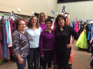 Some of the Wonderful Ladies of the Woods Chapel Dress Boutique